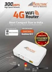 Wireless Or Wi-Fi White Realtime WiFi 4G Router, 300MBPS