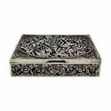 Silver Plated Rectangular Jewellery Box For Wedding, Gifting & Corporate Gift