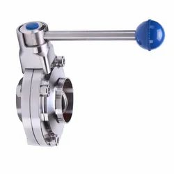 Sanitary Stainless Steel Butterfly Valve Weldable
