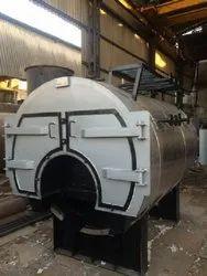 Wood & Coal Fired 1000 kg/hr Horizontal Packaged Steam Boiler