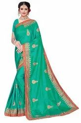 Janasya Women's Multicolor Sana Silk Embroidered Saree With Blouse Piece(AIRWICK-Pack of 4)