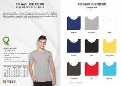 Round Half Sleeve Trophykart Bio Wash Collection Cotton T- Shirts