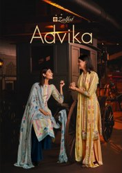 Party Wear Straight Advika Ladies Cotton Suits Zulfat
