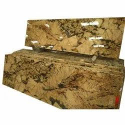 Polished Alaska Gold Granite Slab, For Flooring, Thickness: 15-20 mm