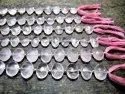 Natural Rose Quartz Oval Shape Briolette 10x15mm Beads sold Per Strand 10 Inches Long