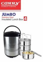Jumbo-4 Stainless Steel Insulated Lunch Box