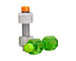 Unbreakable Plastic Dumbbell Shape Water Bottle Portable Dumbbell Bottle, Sports Fancy Kinds