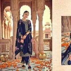 Pure Velvet Designer Kashmiri  Dress Material