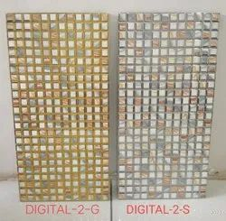 Gold and silver wall tiles