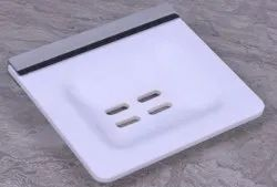 White Acrylic Single Soap Dish