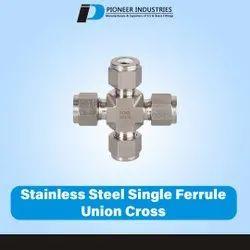 Stainless Steel Single Ferrule Union Cross