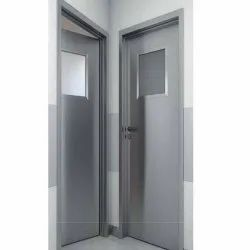 Gray Hinged PUF Insulated Door, For Office and Hospital, Size/Dimension: 7 X 4 Feet (h X W)