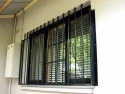 Mild Steel Rectangular Balcony Openable Door Grill