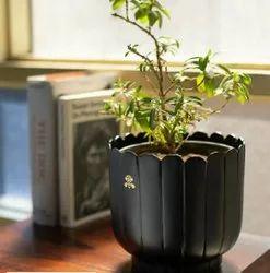 Black Metal Handicraft Flower Vase
