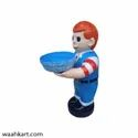 Boy statue With chocolate bowl