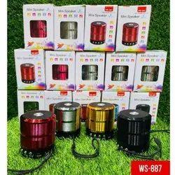 Black WS-887 Mini Speaker, For Home, 500 G