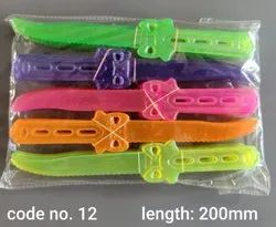 Multicolor Disposable Plastic Birthday Knife, Plastic Type: Crystal, Size: 200 mm