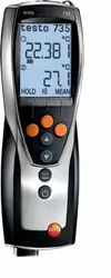 Testo 735 highly accurate temperature measuring instrument with 2 inputs - TC & RTD