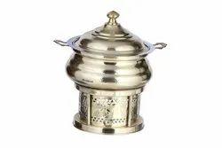Brass Hammered Hyatt Handi Chafing Dish