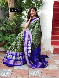 Printed Bhagalpuri Silk Saree, 0.8m, 5.5 m (separate blouse piece)