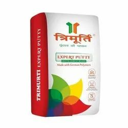 Water Based Paint White Trimurti 40 KG Expert Wall Putty, For Construction, Bag