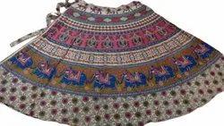 Sanganeri Print Wrap Around Skirt