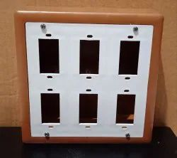 For Home,Office & industrial Plastic 6 Way Electric Switch Boards - SQUARE, Finishing Type: Glass Finish, 65