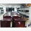 Mild Steel Free Standing Unit Showroom Led Tv Display Rack