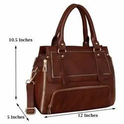 S K Side Silling Ladies Leather Bag, Size: 12