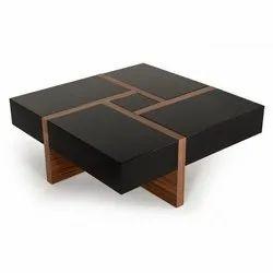 Black And White Walnut Drift Drawer Center Table