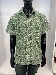 Exclusive Textiles Simple Collar Mens Hand Block Printed Shirt