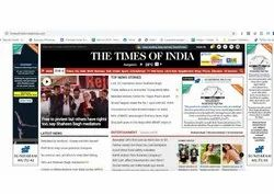 1 Month Banner Advertising on News Portal, Mode Of Advertising: Banners,Video