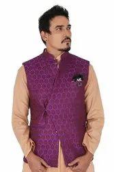 Majestic Purple Overlap Waistcoat