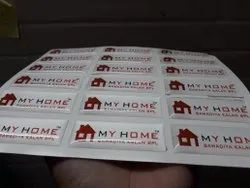 White Polyurethane Dome Stickers, Packaging Type: Packet