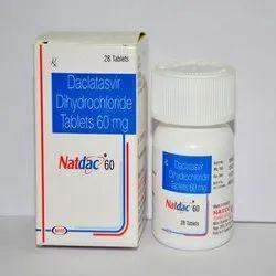 Natdac 60 Daclatasvir Dihydrochloride 60 mg Tablets