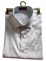 Mens Cotton Shirt, Striped, Formal Wear