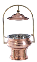 Copper Hammered Hyatt Mahal Chafing Dish