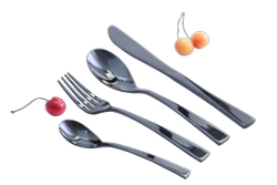 Black Titanium Balloon Pattern Cutlery