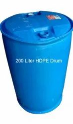 Industrial Round 200L HDPE Drum, For Chemical Storage