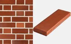 non marka Red Clay Wall Bricks, Size: 9''x3''