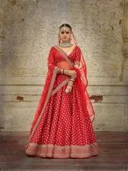 Georgate With Work Unstitched Embroidered Bridal Lehengas, Size: Free Size