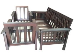 Wooden Five Seater Sofa Frame, For Outdoor Garden
