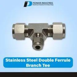 Stainless Steel Double Ferrule Male Branch Tee