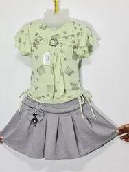Kids Girls Skirt Tops