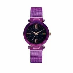 Black Formal Wear GT Gala Time Magnetic Watches Analogue Women''s Watch