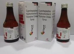 Cyproheptadine 2mg+Tricholine 275mg Sorbitol Syrup