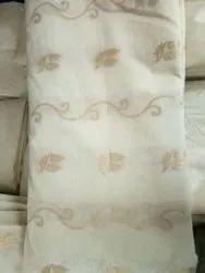 Dyeable Chanderi Jacquard Fabric