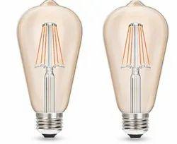 Round Wipro Garnet 6W / 8W Filament Gold ST64 LED Bulb