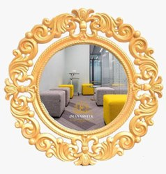 Golden Antique Wooden Carving Mirror Frame, For Decorative Purpose, Size: 800x600mm