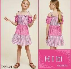 Multicolor Girl Kids Western Dress